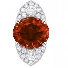 Bague spinelle au centre et entourage diamants Louis Vuitton Voyage dans le temps